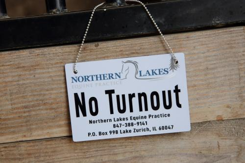 No Turnout Sign